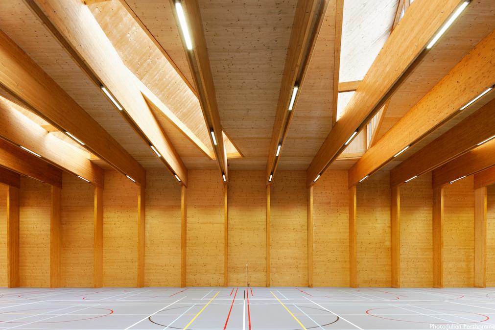 Salle de sport du collège du Christ-Roi à Ottignies